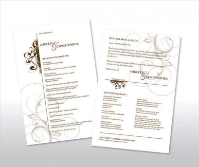 Simple Wedding Reception Program Sample Ideas 6