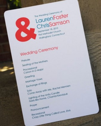Simple Wedding Reception Program Sample Ideas 8