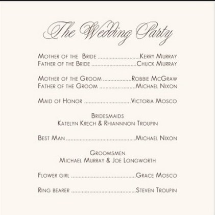 35 Simple Wedding Reception Program Sample Ideas Style Female