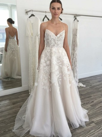 Spaghetti Strap Wedding Day Dresses Gowns ideas 19