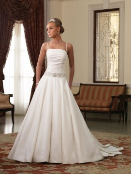 Spaghetti Strap Wedding Day Dresses Gowns ideas 29
