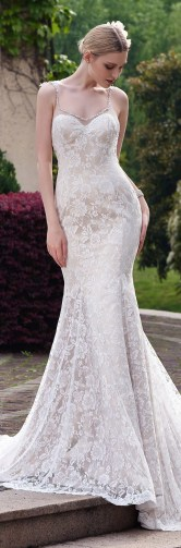 Spaghetti Strap Wedding Day Dresses Gowns ideas 37