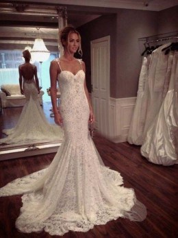 Spaghetti Strap Wedding Day Dresses Gowns ideas 41