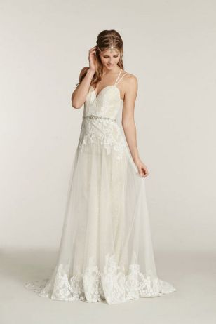 Spaghetti Strap Wedding Day Dresses Gowns ideas 5