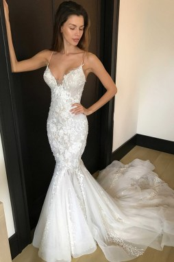 Spaghetti Strap Wedding Day Dresses Gowns ideas 56