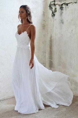 Spaghetti Strap Wedding Day Dresses Gowns ideas 63