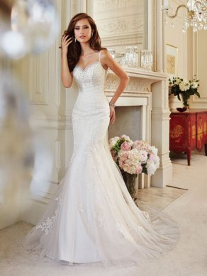 Spaghetti Strap Wedding Day Dresses Gowns ideas 66