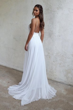 Spaghetti Strap Wedding Day Dresses Gowns ideas 7