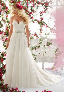 Spaghetti Strap Wedding Day Dresses Gowns ideas 79