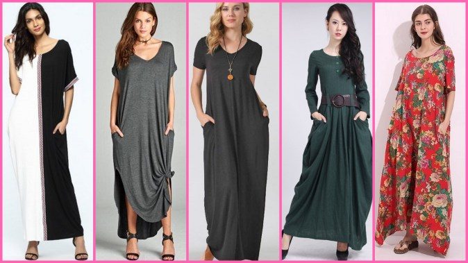 Women Casual Long Maxi Dresses with Pockets Ideas