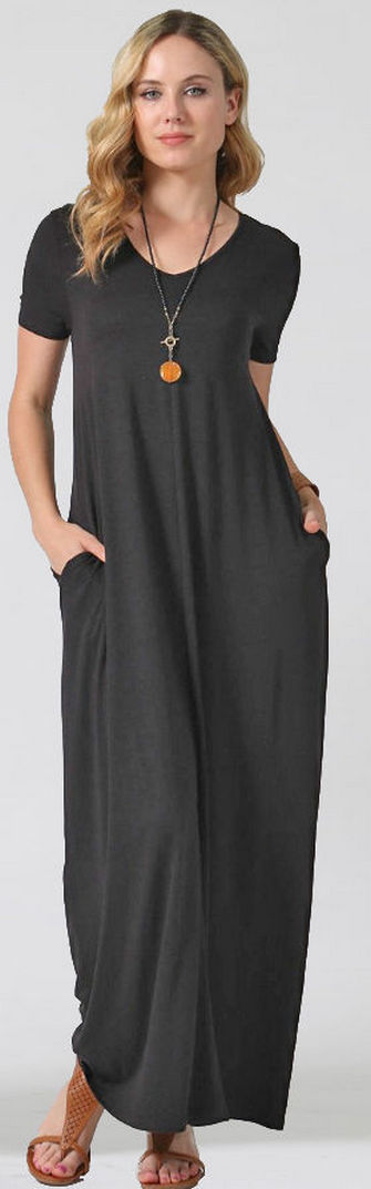 Women Casual Long Maxi Dresses with Pockets ideas 12