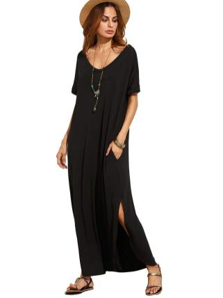 Women Casual Long Maxi Dresses with Pockets ideas 2