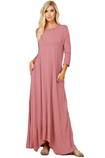 Women Casual Long Maxi Dresses with Pockets ideas 4