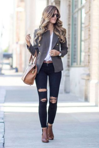 Womens blazer outfit ideas 19