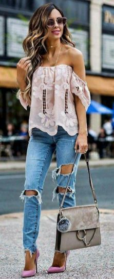 World of jeans cute winter outfits ideas 26