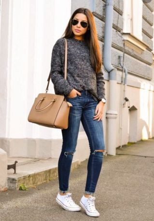 World of jeans cute winter outfits ideas 36