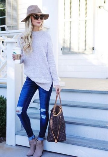 World of jeans cute winter outfits ideas 41