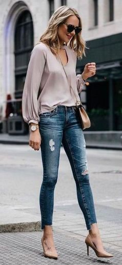World of jeans cute winter outfits ideas 44