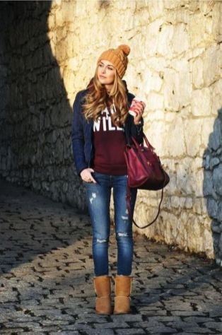 World of jeans cute winter outfits ideas 7