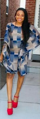 african prints short dresses 2