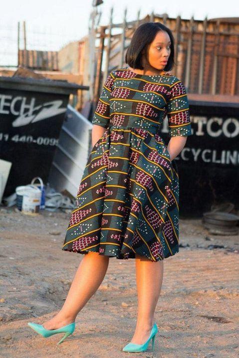 african prints short dresses 36