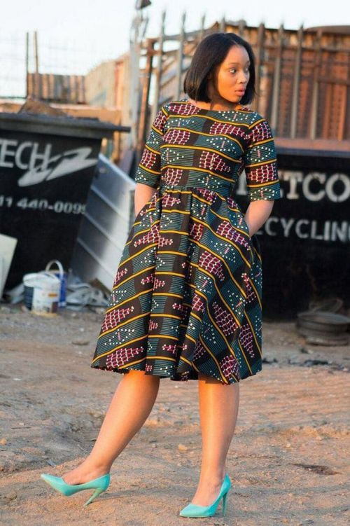 african prints short dresses 36