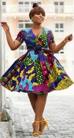 african prints short dresses 4