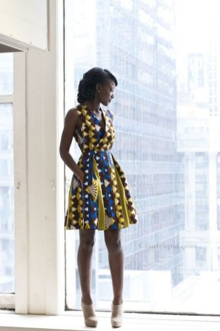 african prints short dresses 7