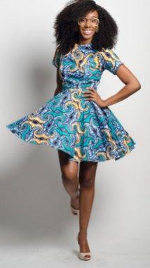 african prints short dresses 8
