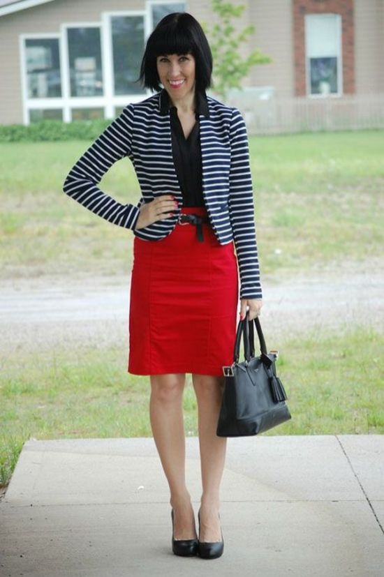 black and white striped blazer womens 2
