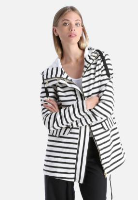black and white striped blazer womens 46