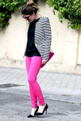 black and white striped blazer womens 7