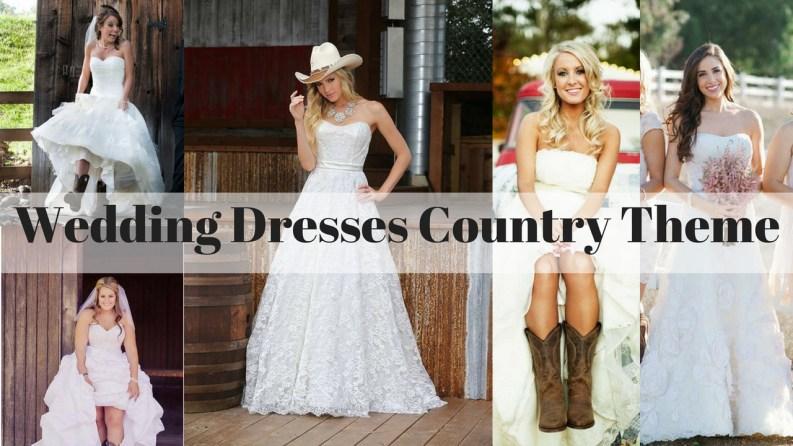 wedding dresses country theme