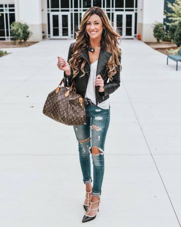 90 Style A Leather Jacket Ideas 49