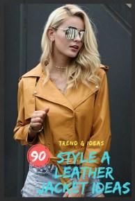 Style A Leather Jacket Ideas
