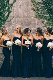 40 Bridesmaid with Mermaid Dresses to Copy Ideas 10