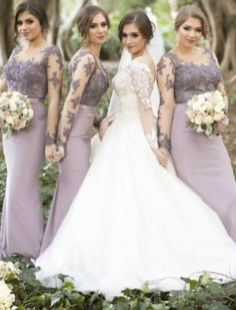 40 Bridesmaid with Mermaid Dresses to Copy Ideas 11