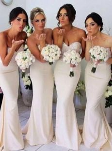 40 Bridesmaid with Mermaid Dresses to Copy Ideas 15