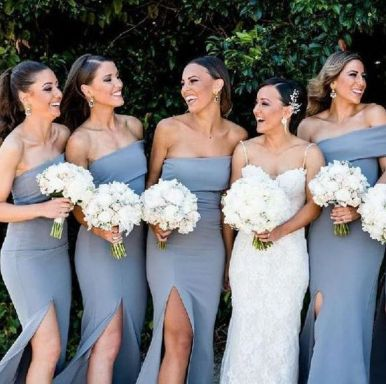 40 Bridesmaid with Mermaid Dresses to Copy Ideas 23