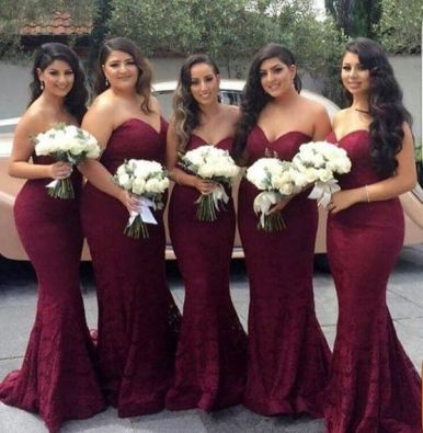 40 Bridesmaid with Mermaid Dresses to Copy Ideas 24