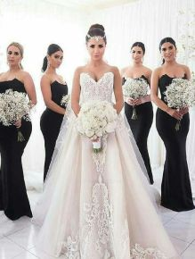 40 Bridesmaid with Mermaid Dresses to Copy Ideas 34