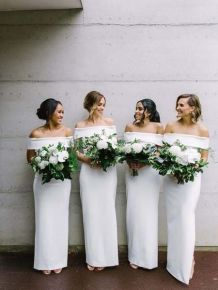 40 Bridesmaid with Mermaid Dresses to Copy Ideas 35