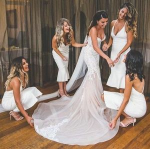 40 Bridesmaid with Mermaid Dresses to Copy Ideas 40