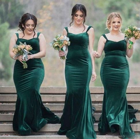 40 Bridesmaid with Mermaid Dresses to Copy Ideas 5