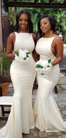40 Bridesmaid with Mermaid Dresses to Copy Ideas 6