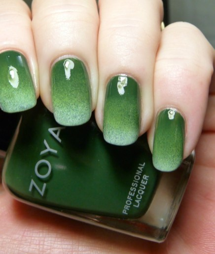 40 Chic Green Nail Art Ideas 14