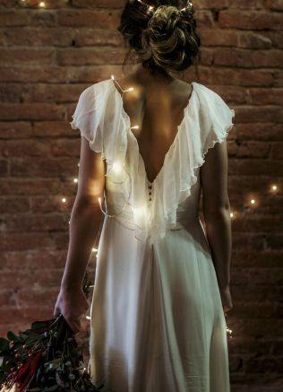 40 Deep V Open Back Wedding Dresses Ideas 12