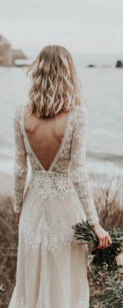 40 Deep V Open Back Wedding Dresses Ideas 14