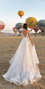 40 Deep V Open Back Wedding Dresses Ideas 3