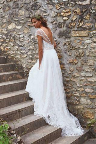 40 Deep V Open Back Wedding Dresses Ideas 38
